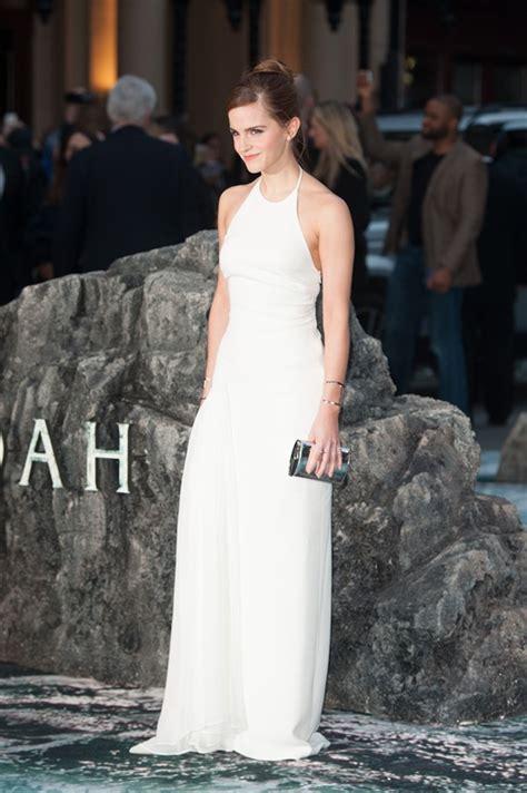 emma watson   white dress  london premiere  noah