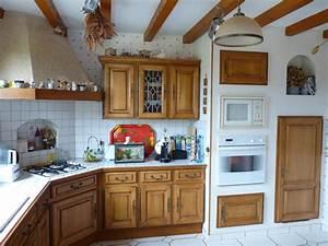 relooking renovation cuisine cuisiniste repeindre With renovation meuble cuisine en chene