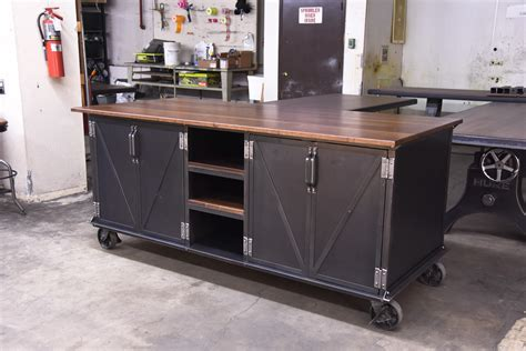Ellis Kitchen Island   Vintage Industrial Furniture