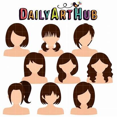 Hairstyles Clip Woman Nature