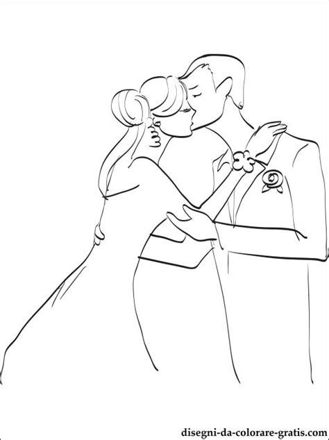 disegno  bacio  nozze da colorare disegni da