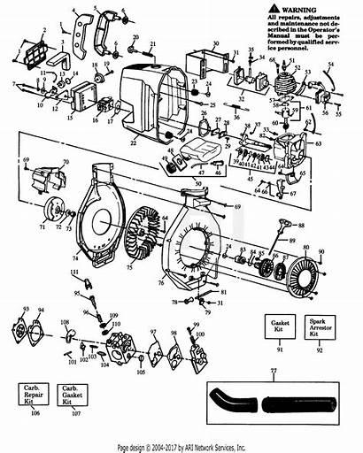 Poulan Blower Pro Gas Assembly Parts Diagram