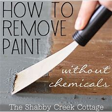 Remove Paint From Furniture Without Chemicals (stepby