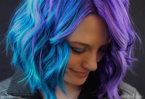 incredible examples  blue purple hair
