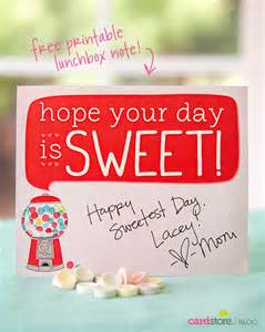 Sweetest Day Cards Printable Free
