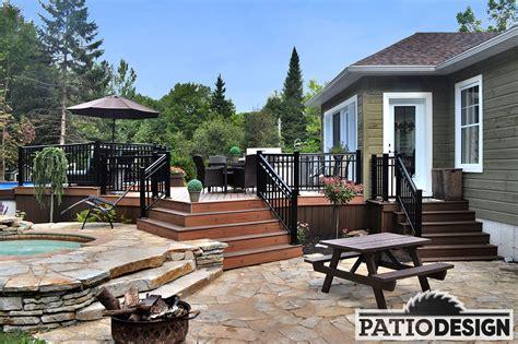 patio design patios avec piscine hors terre les r 233 alisations de patio
