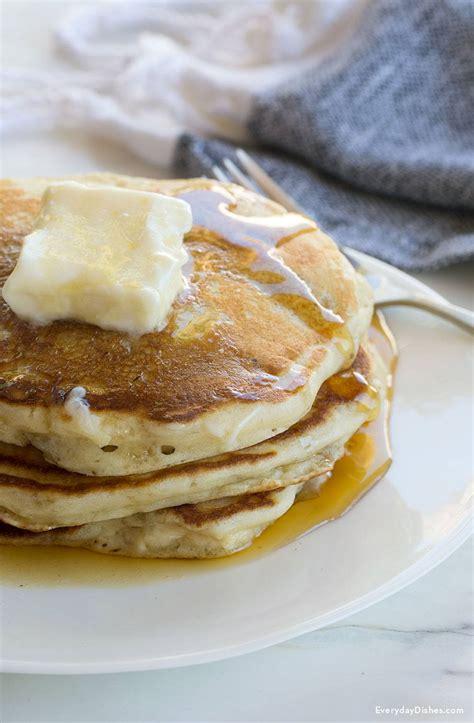 fluffy homemade pancakes recipe