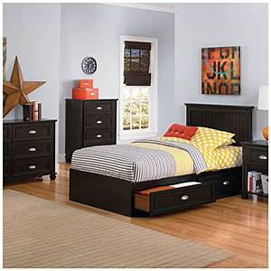 Ameriwood Twin Mates Dark Russet Cherry Collection Big Lots