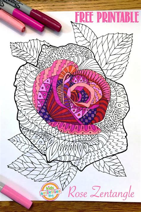 adult rose coloring pages  homeschool deals
