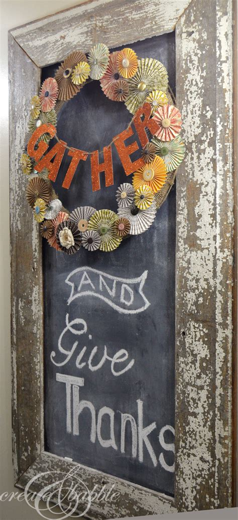 Thanksgiving Chalkboard Decor  Create And Babble