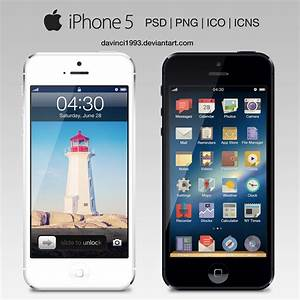 Apple iPhone 5: PSD | PNG | ICO | ICNS by davinci1993 on ...