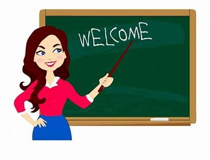Teacher Clipart Cartoon Blackboard Classroom Ideal Teachers