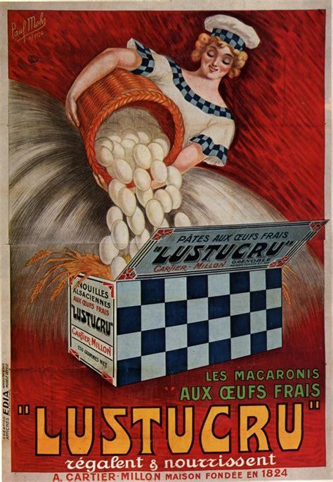 affiche cuisine ancienne publicité pour les macaronis lustucru une