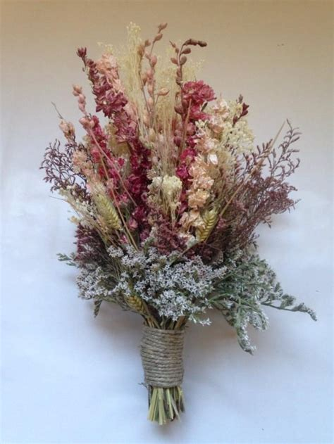 fall bridal bouquet wedding dried bridal party bouquets