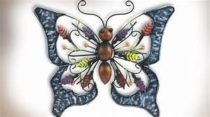 Papillon Décoration Murale : d coration murale en m tal papillon ornemental ~ Teatrodelosmanantiales.com Idées de Décoration