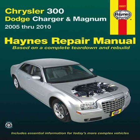 online car repair manuals free 1968 dodge charger on board diagnostic system chrysler 300 dodge charger magnum automotive repair manual chrysler 300 2005 through 2010