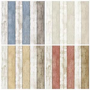 Modern vinyl textured wood panelling wallpaper for walls ...