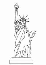 Liberty Statue Coloring Printable sketch template