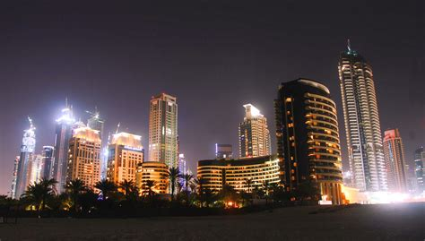 Dubai-marina-at-night Wallpaper And Background Image