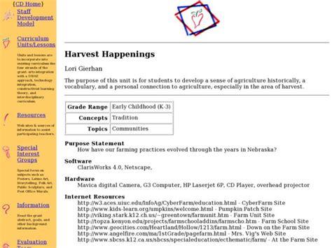 Harvest Happenings Lesson Plan For Kindergarten