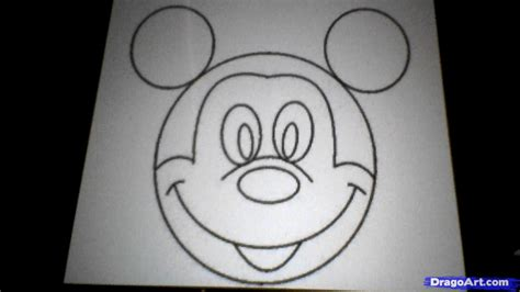 draw mickey mouse step  step cartoons  kids