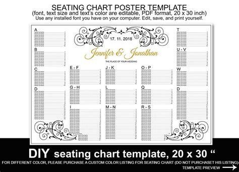 wedding seating chart poster template wedding seating chart poster template printable reception