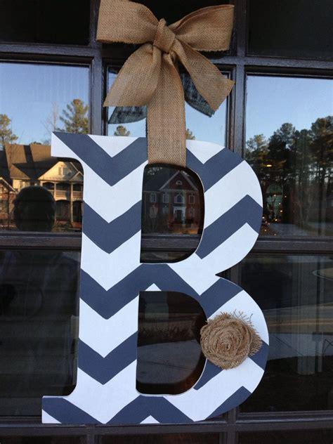 door hanger front door initial wood hanger  knockinonwood  door decorations front