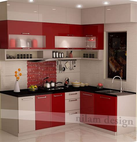 kitchen  red combination interior  exterior