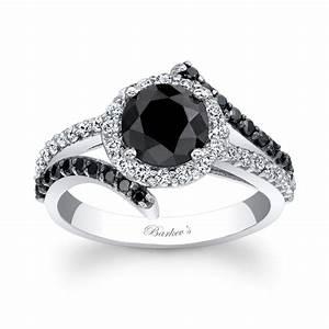 Barkev39s Black Diamond Engagement Ring BC 7857LBK Barkev39s