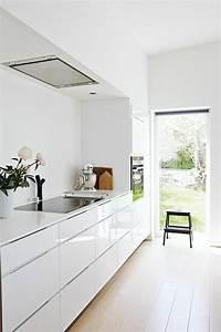 La cuisine blanche laquee en 35 photos qui vont vous for Idee deco cuisine avec cuisine blanc laqué