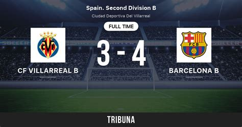 CF Villarreal B vs Barcelona B: Live Score, Stream and H2H ...