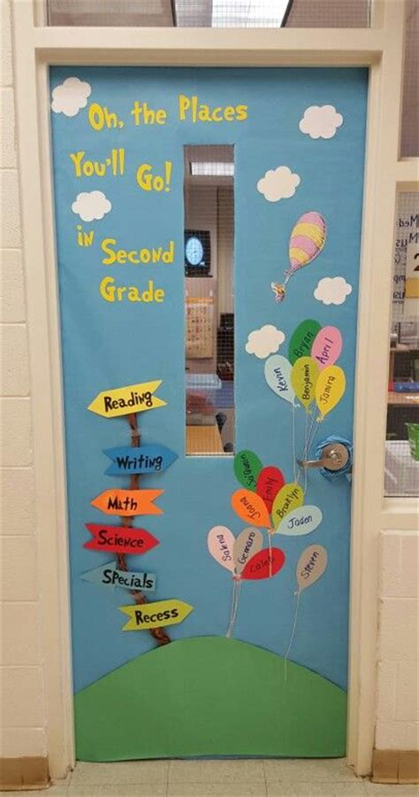 Oh The Places You Ll Go Decorations - oh the places you ll go door decoration dr seuss
