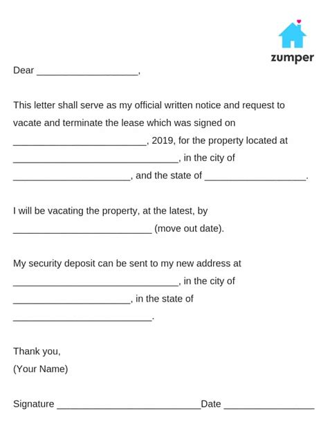 give written notice   landlord notice