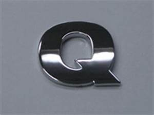 style 6 smallest letters 75quot small chrome letters q With small chrome letters