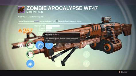 zombie apocalypse gun destiny legendary machine