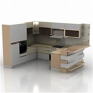 Kitchen furniture 3d models kitchen n190311 3d model for Kitchen furniture 3ds max free