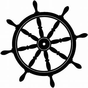 Ship wheel Silhouette | Ships wheel silhouette vinyl ...
