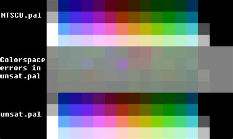 rgbsource creating an quot accurate quot nes ntsc color palette
