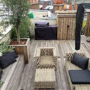 amenager un toit terrasse avec une terrasse bois paris With amenager un toit terrasse
