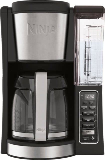 This gives you the freedom to use any brand of coffee and to adjust the amount of grounds used, allowing you to achieve unlimited variety and personal customization of your coffee drinks. Ninja 12-Cup Coffee Maker Black/Stainless Steel CE201 - Best Buy