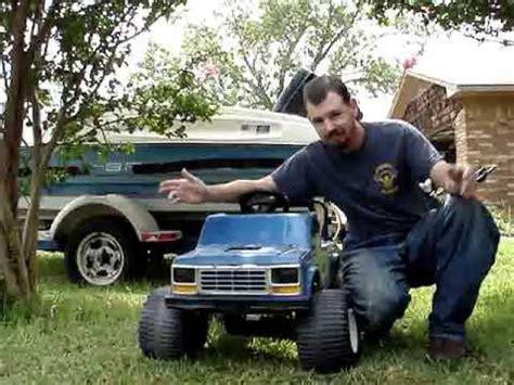 power wheels bigfoot monster truck i got a power wheels big foot finally youtube