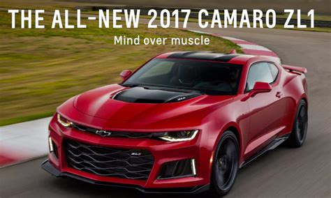 Chevrolet Releases 2017 Camaro Zl1 Coupe And