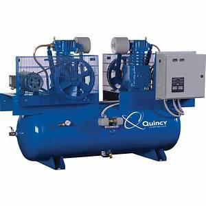 Quincy Qt Splash Lubricated Duplex Air Compressor  U2014 7 5 Hp