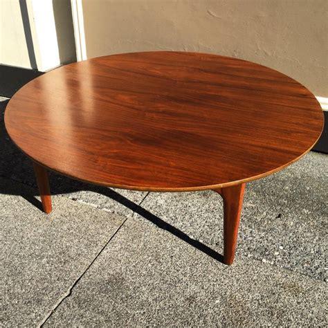 Enjoy free shipping on most stuff, even big stuff. Danish Modern Round Walnut Coffee Table   Chairish