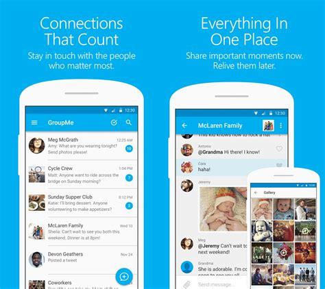 groupme app android chat microsoft apps material ios text sharing eztalks messages web document calendar phone updates windows mspoweruser platforms