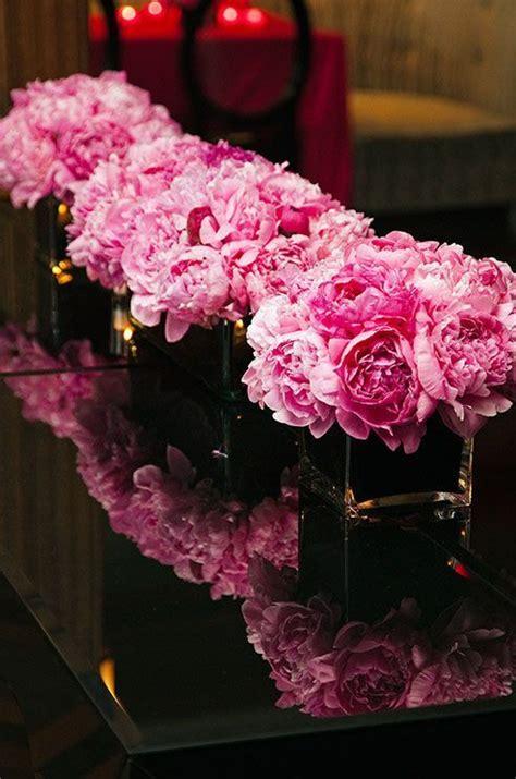 pink peonies wedding reception centerpieces wedding