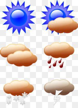 Simbol matahari, bulan, hujan, awan, meteor, payung, air panas, salju, es kristal. Prakiraan cuaca Clip art - simbol cuaca unduh gratis - 386*208,115.92 KB gambar png