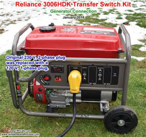 reliance controls 3006hdk transfer switch kit installation airplanes and rockets
