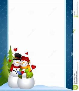 Snowman Clip Art Border | New Calendar Template Site