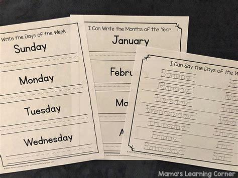 calendar notebook mamas learning corner